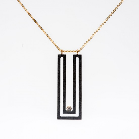 Maria Samora - Strata Rectangle Necklace