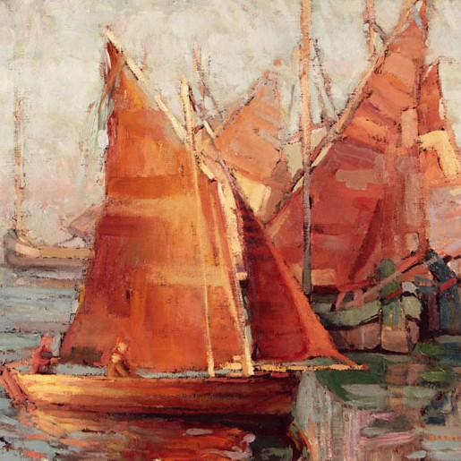 Sean Diediker - Orange Sailboat
