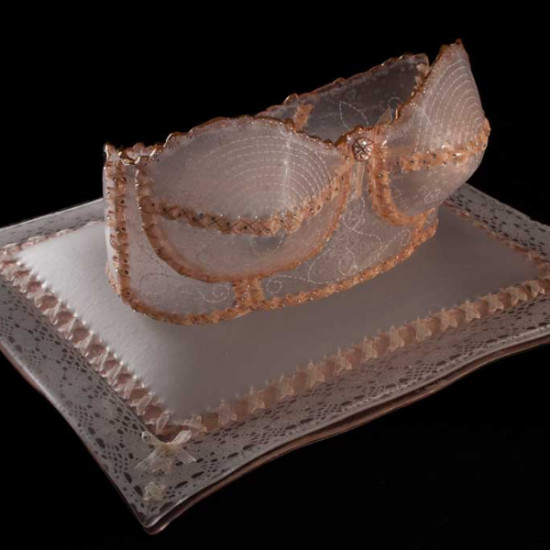 Susan Taylor Glasgow - Royal Crown Brassiere on Pillow (Peach)