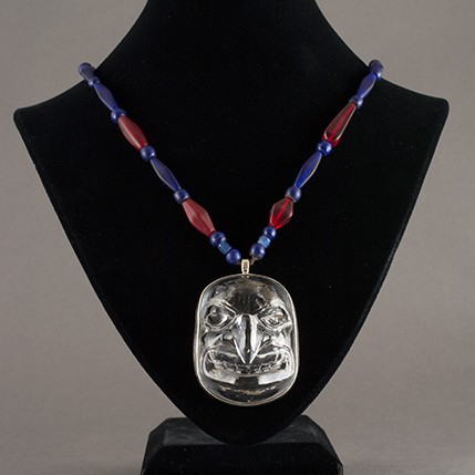Preston Singletary - Hawk Mask Glass Pendant