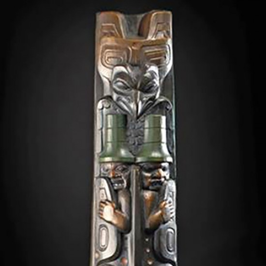 Preston Singletary - Killer Whale Totem (Wall Hanging)