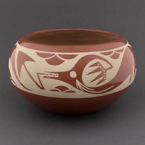 Albert and Josephine Vigil - Polished Redware with Serpent