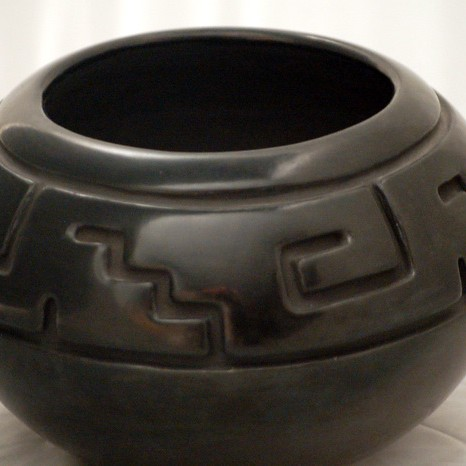 Margaret Tafoya - Carved Blackware Pottery Jar