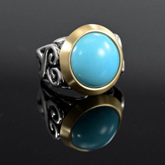 Sharon Meyer - Turquoise and Silver Ring