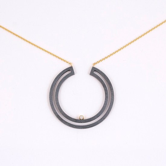 Maria Samora - Strata Full Moon Necklace (Large)