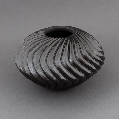 Nancy Youngblood - Blackware Swirl Pot