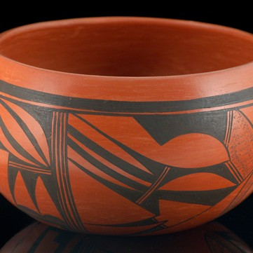 Lydia Mahle - Black-on-Red Pottery Bowl