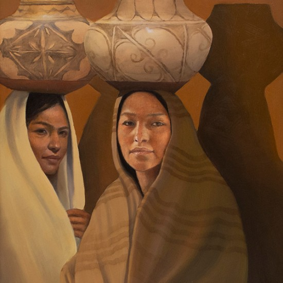 Roseta Santiago - Two Pueblo Girls