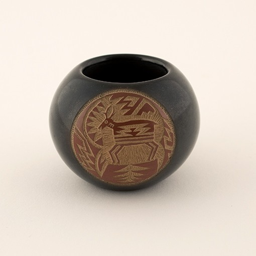Joseph Lonewolf - Small Blackware with Deer