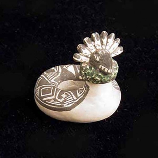 Thomas Natseway - Miniature Pottery Mimbres Serpent