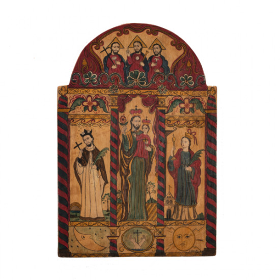 Catherine Robles Shaw - Altar Screen (reproduced from original at Laguna Pueblo)