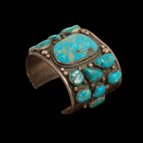 Johnny Fuson - Silver and Turquoise Bracelet