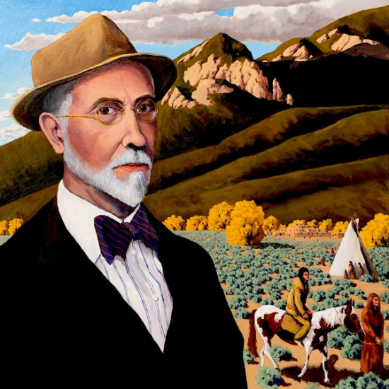 """Doug West - Joseph Henry Sharp's Taos (Loosely inspired by Joseph Henry Sharp painting titled """"Self Portrait"""" and a photograph from the Smithsonian American Art Museum)"""